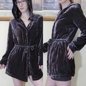 J. Jill Jackets & Coats - Consignment J. Jill Brown Velvet Elf Jacket